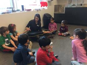 Music Makers Camp learning about the gutar